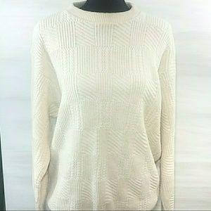 Oscar De La Renta cream sweater
